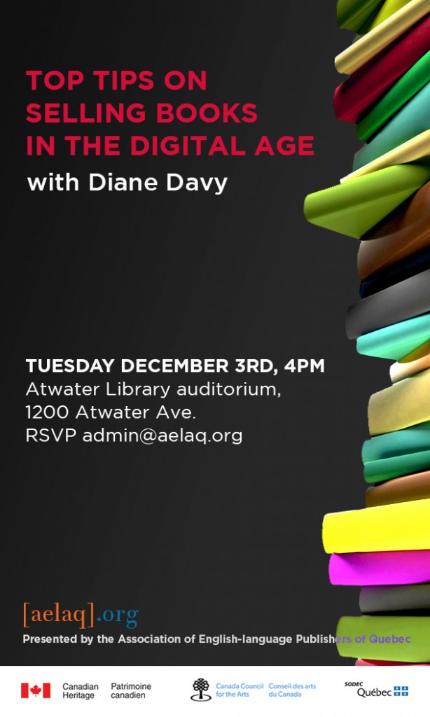 Join us on Tuesday December 3rd at the Atwater Library Auditorium for a presentation by Diane Davy, president of Castledale Inc. Doors open at 4pm; presentation to begin at 4:15. Coffee and cookies will be served. Everyone welcome! RSVP to admin@aelaq.org.
